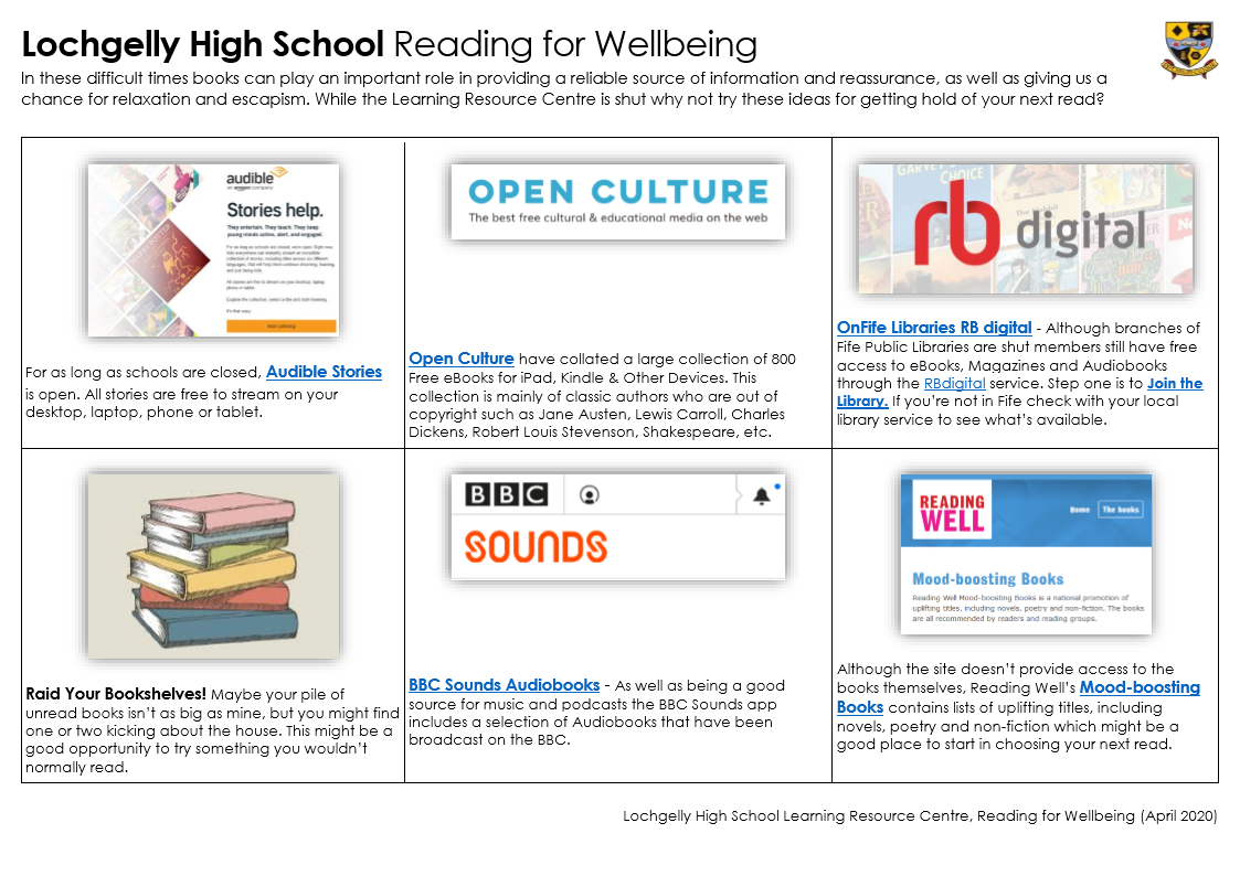 Reading for Wellbeing 1