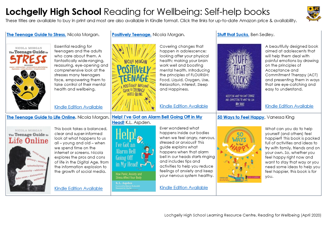 Reading for Wellbeing Self-Help